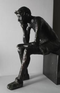 Bronzen beeld Erik Polman