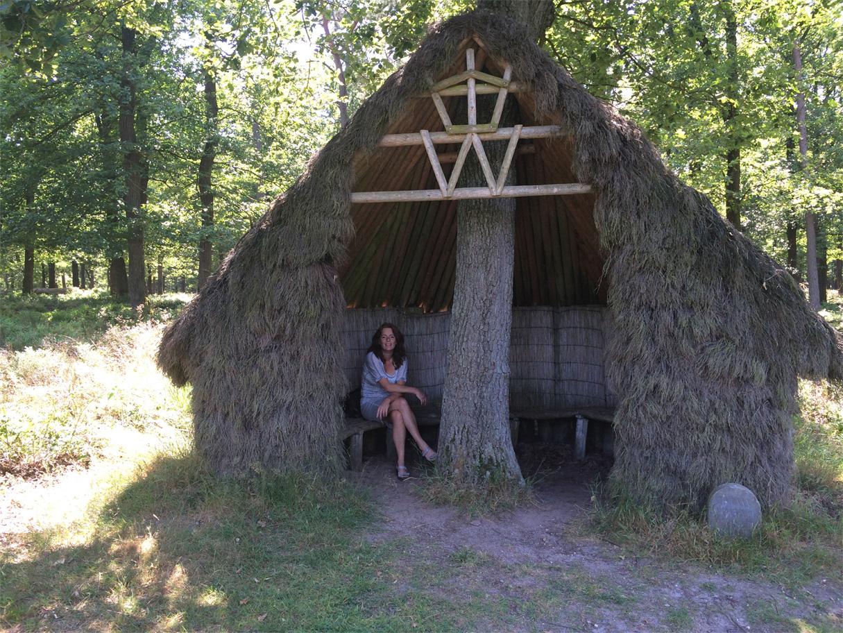 De hut van koningin Wilhelmina
