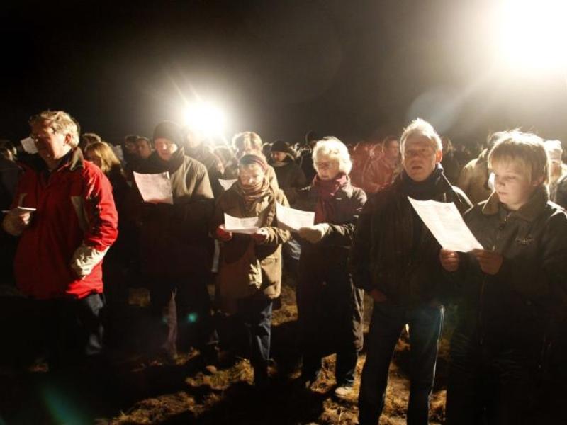 Kerstnachtdienst op de heide