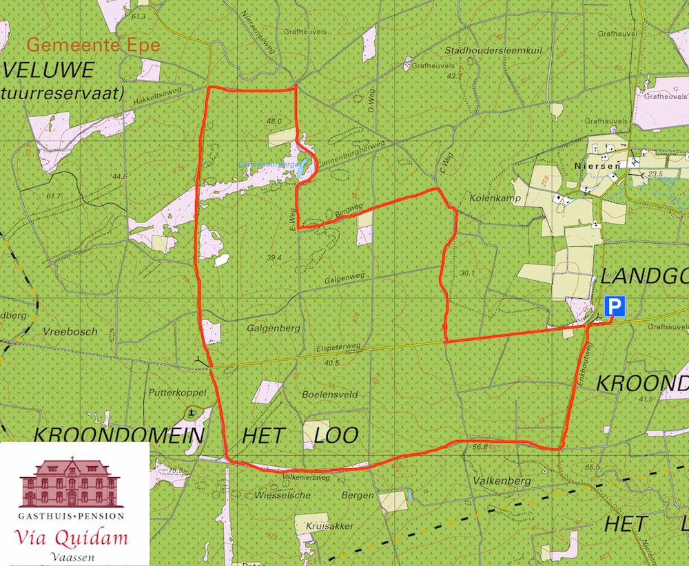 Wandelroute Kroondomein 10 km