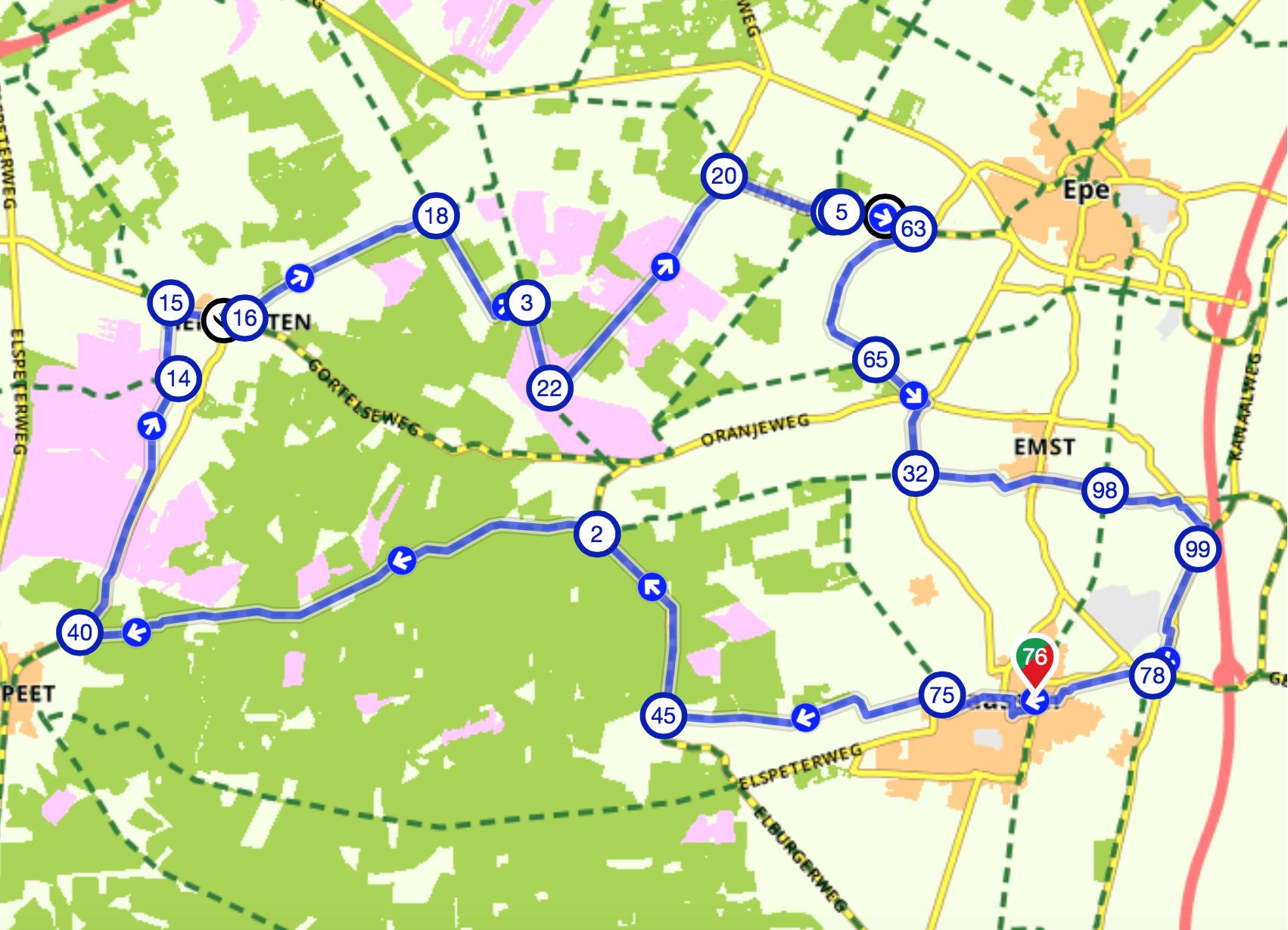 Fietsroute De Noord Veluwe